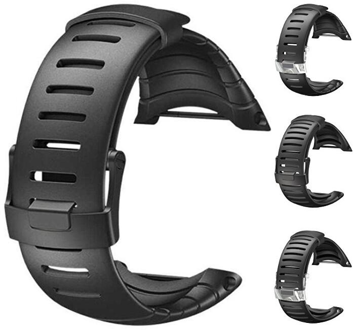 Suunto Pryžový řemínek k hodinkám Core černý s černou sponou standard