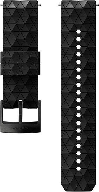 Suunto Silikonový řemínek 24MM EXPLORE 2 - Velikost M černý s černou sponou
