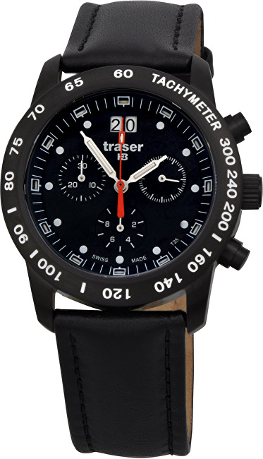 Traser Classic Chrono Big Date Pro Blue Leather