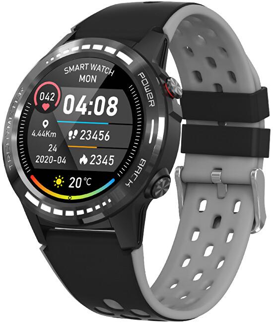 Wotchi GPS Smartwatch W70G s kompasom, barometrom a výškomerom - Black
