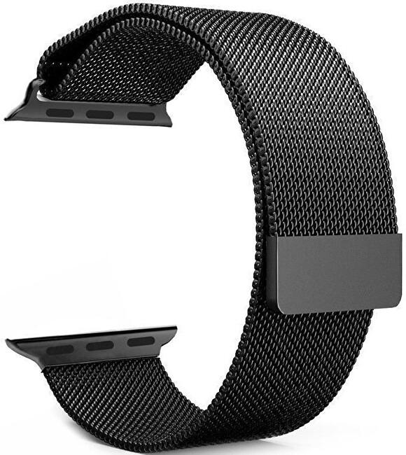 4wrist Ocelový milánský tah pro Apple Watch - Černý 42/44 mm - SLEVA