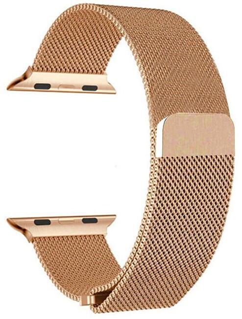 4wrist Ocelový milánský tah pro Apple Watch - Růžové zlato 42/44 mm - SLEVA