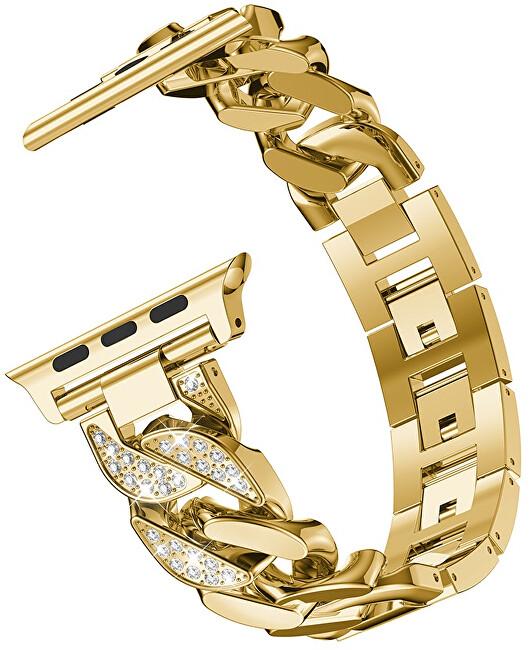 4wrist Ocelový tah pro Apple Watch - Zlatý - 42/44 mm