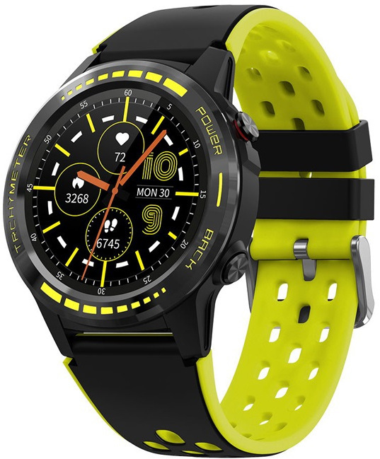 Wotchi GPS Smartwatch W70Y s kompasem, barometrem a výškoměrem - Yellow