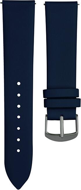 4wrist Kožený hladký řemínek - Modrý 18 mm