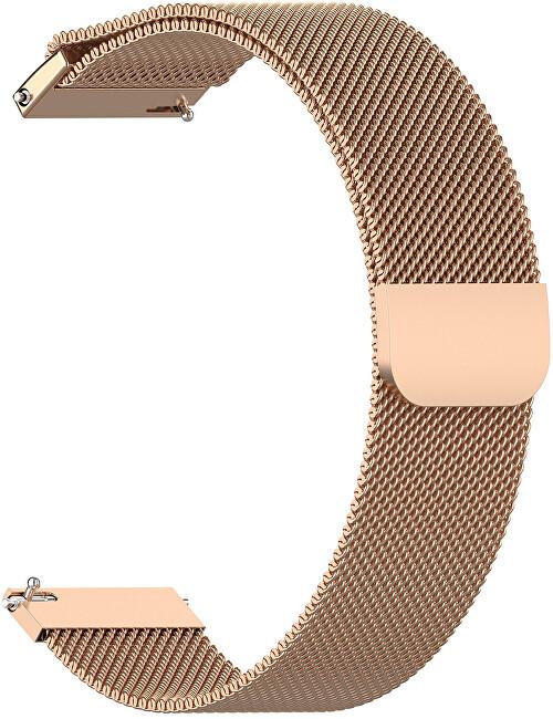4wrist Milánský tah - Růžově zlatý 20 mm
