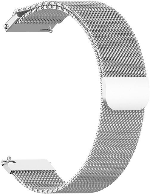 4wrist Milánský tah - Stříbrný 22 mm