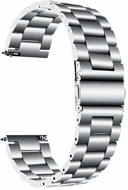 4wrist Ocelový tah - Stříbrný 18 mm
