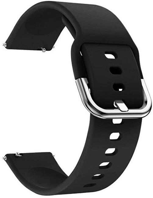 4wrist Silikonový řemínek - Černý 22 mm
