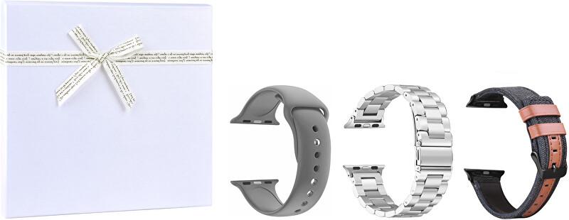 4wrist Gift box pro něj - Silver vel. 42/44 mm