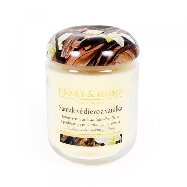 Albi Vonná sviečka veľká Santalové drevo a vanilka 340 g