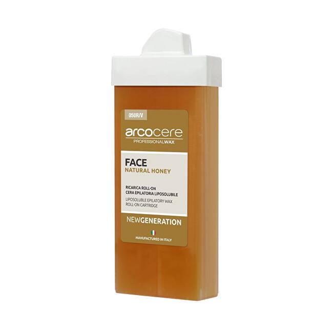 Arcocere Epilační vosk na obličej Professional Wax Face Natural Honey (Roll-On Cartidge) 100 ml