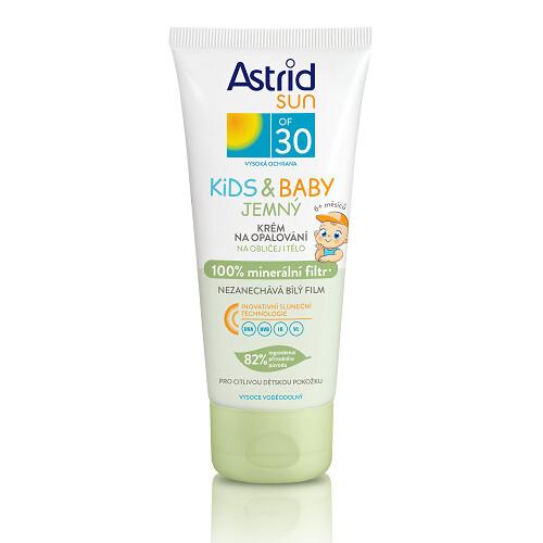 Astrid Jemný krém na opalování pro děti OF 30 Sun Kids & Baby 100% minerální filtr 100 ml