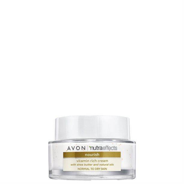 Avon Hydratační pleťový krém s bambuckým máslem Nutraeffects (Nourish Vitamin Rich Cream) 50 ml