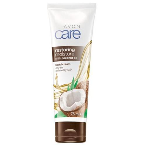 Avon Regeneračný krém na ruky s kokosovým olejom Care (Restoring Moisture With Coconut Oil ) 75 ml