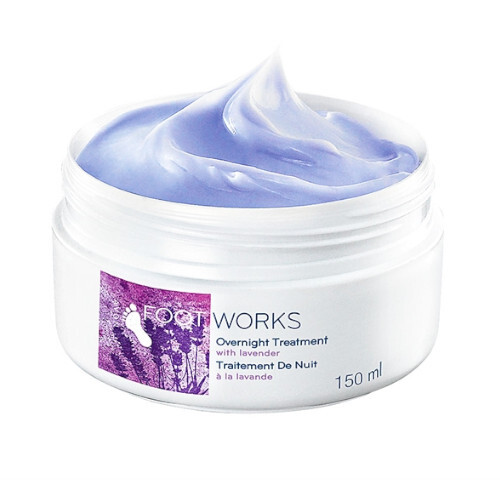 Avon Levanduľový upokojujúci krém na nohy Foot Works(Overnight Treatment) 150 ml