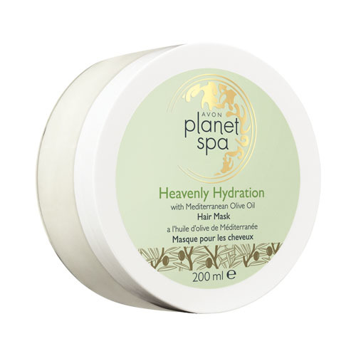 Avon Hydratačná maska ​​na vlasy s olivovým olejom Planet Spa (Heavenly Hydration with Mediterranean Olive Oil Hair Mask) 200 ml