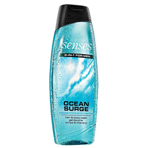 Avon Sprchový gel na tělo a vlasy pro muže Senses Ocean Surge 500 ml