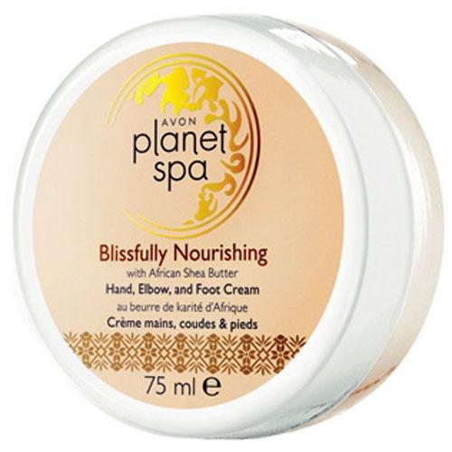 Avon Vyživujúci krém na ruky, nohy a lakte s bambuckým maslom Planet Spa (Hand, Elbow and Foot Cream Blissfully Nourishing with African Shea Butter) 75 ml