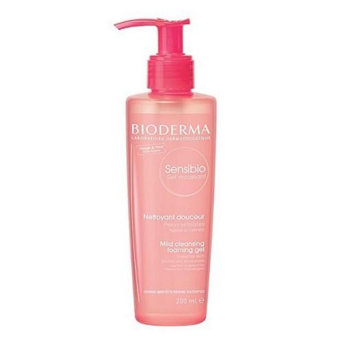 Bioderma Čisticí pěnivý gel pro citlivou pleť Sensibio Gel Moussant (Mild Cleansing Foaming Gel) 200 ml