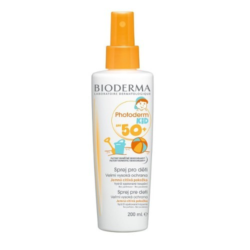 Bioderma Voděodolný opalovací sprej pro děti SPF 50+ Photoderm Kid (Spray For Children Very High Protection) 200 ml