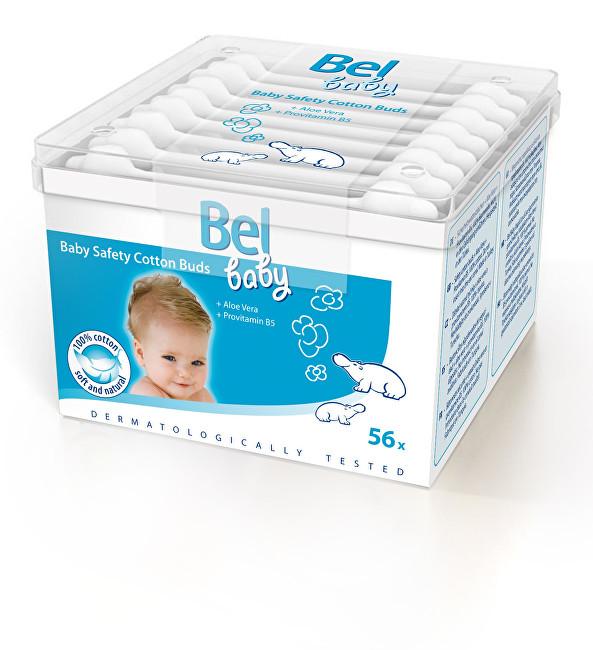Bel Dětské papírové vatové tyčinky Baby (Safety Cotton Buds) 56 ks