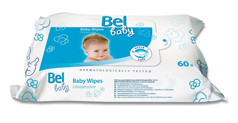 Bel Vlhčené ubrousky Baby (Ultrasensitive Baby Wipes) 60 ks