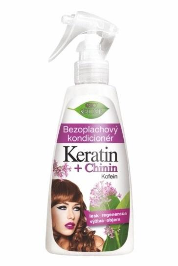 Bione Cosmetics Bezoplachový kondicionér Keratin + Chinin 260 ml