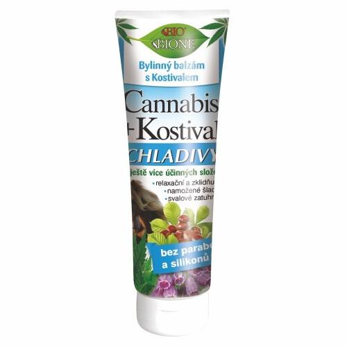 Bione Cosmetics Bylinný balzam s kostihojom chladivý Cannabis 200 ml