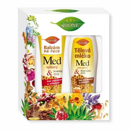 Bione Cosmetics Darčeková sada telové starostlivosti Med + Q10