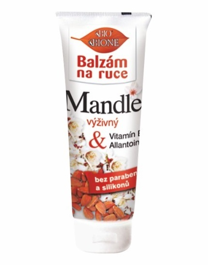 Bione Cosmetics Výživný balzam na ruky Mandle s alantoínom a vitamínom E 205 ml