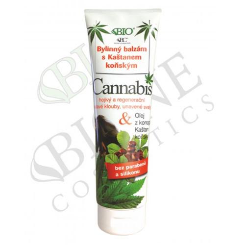 Bione Cosmetics Bylinný balzam s gaštanmi konským Cannabis 300 ml