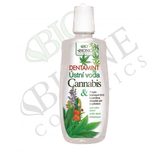 Bione Cosmetics Dentamint ústní voda Cannabis 500 ml
