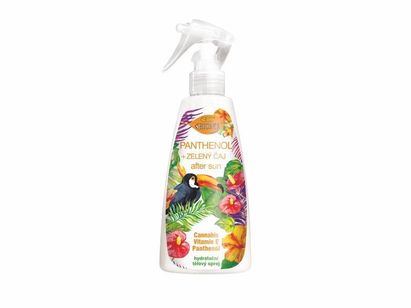 Bione Cosmetics Hydratační tělový sprej po opalování Panthenol + Zelený čaj After Sun 260 ml