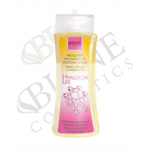 Bione Cosmetics Micelárna dvojfázová pleťová voda s kyselinou hyalurónovou Hyaluron Life 255 ml