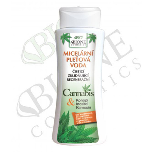 Bione Cosmetics Micelární pleťová voda Cannabis 255 ml