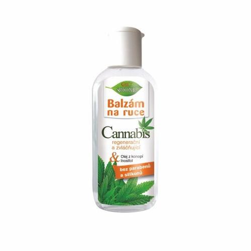 Bione Cosmetics Regeneračný a zvláčňujúci balzam na ruky Cannabis 80 ml