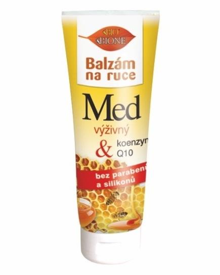 Bione Cosmetics Regeneračný balzam na ruky Med + Q10 205 ml