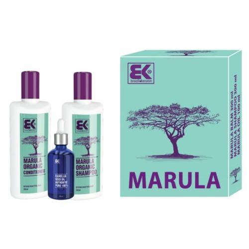 Brazil Keratin Darčeková sada Marula s prírodným exotickým olejom pre krásu a sviežosť vlasov i tela