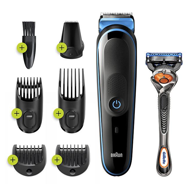 Braun Zastrihávač fúzov, vlasov a chĺpkov MGK5245 Blue