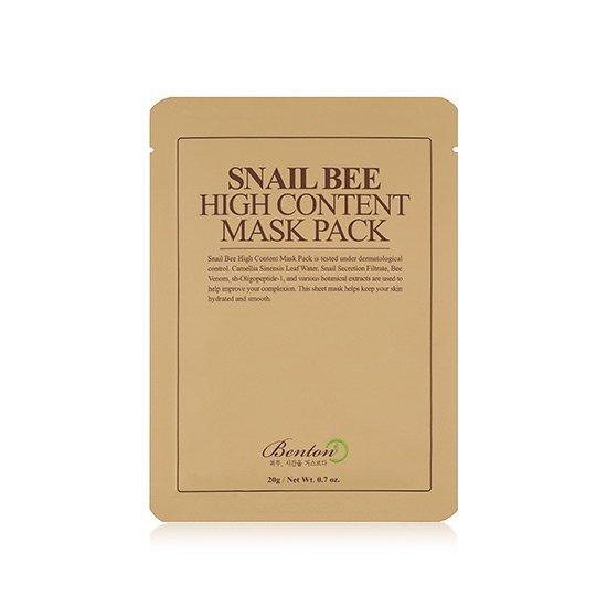 Benton Regenerační pleťová maska Snail Bee (High Content Mask Pack) 10 ks