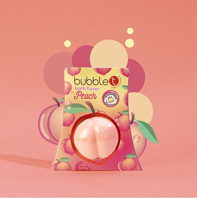 Bubble T Cosmetics Šumivá bomba do koupele Peach (Bath Fizzer) 150 g