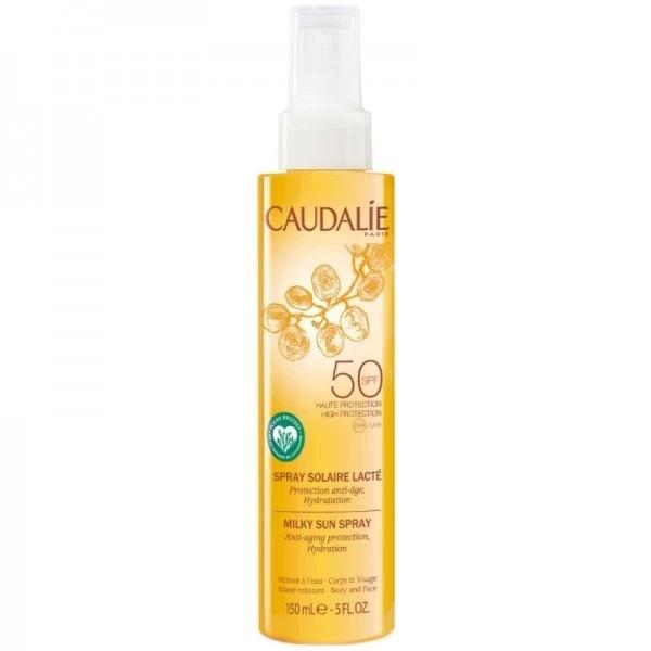 Caudalie Sprej na opaľovanie na tvár a telo SPF 50 (Milky Sun Spray) 150 ml