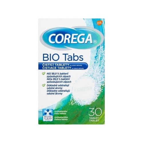Corega Čistiace tablety na zubné náhrady Bio Tabs 30 ks