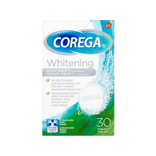 Corega Čistiace tablety na zubné náhrady Whitening 30 ks