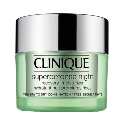 Clinique Noční hydratační krém pro suchou až smíšenou pleť Superdefense (Night Recovery Moisturizer Very Dry To Dry Combination Skin) 50 ml