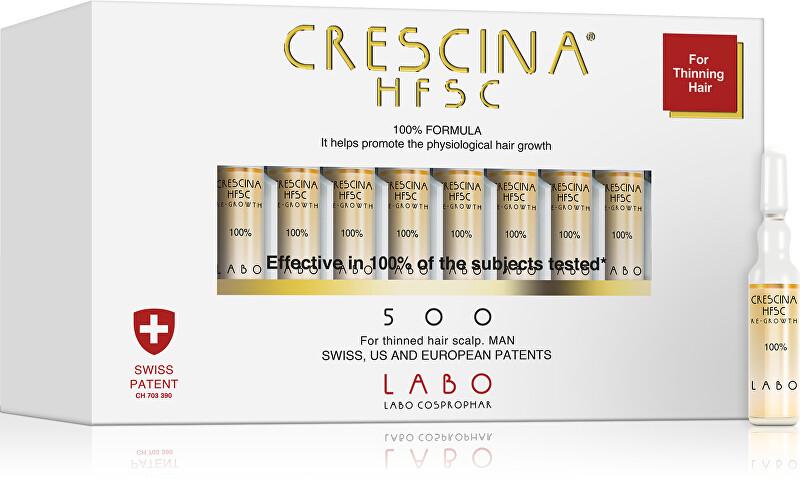 Crescina Péče na podporu růstu vlasů pro muže stupeň 500 Re-Growth 20 x 3,5 ml
