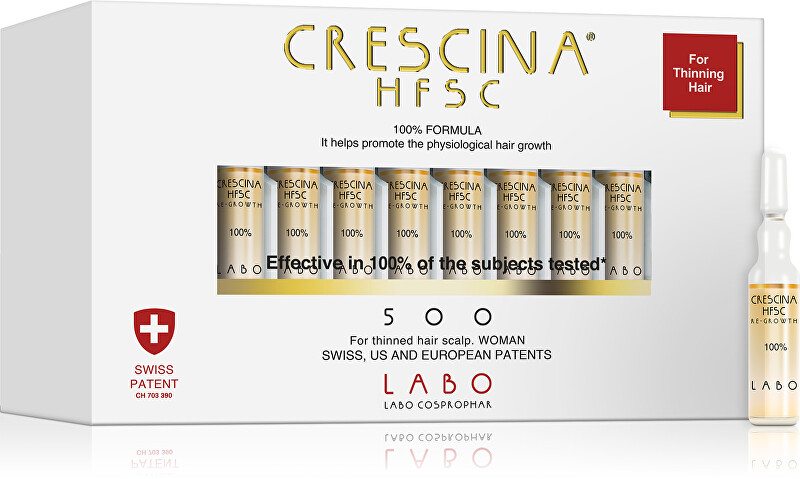 Crescina Péče na podporu růstu vlasů pro ženy stupeň 500 Re-Growth 20 x 3,5 ml