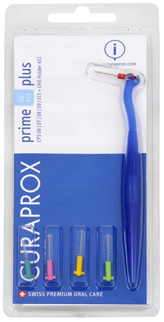 Curaprox Medzizubné kefky s držiakom - mix veľkostí Prime 06 - 011 Plus 5 ks