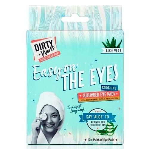 Dirty Works Maska na oči a oční okolí Easy On The Eyes (Cucumber Eye Pads) 10 x 8 ml